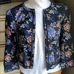 Loft evening garden jacket blazer in blue